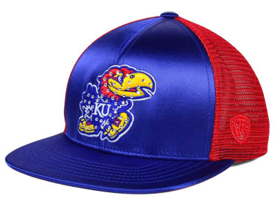 Kansas Jayhawks Top of the World NCAA Women's Big Satin Snapback Cap