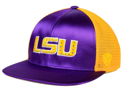 LSU Tigers Top of the World NCAA Women's Big Satin Snapback Cap