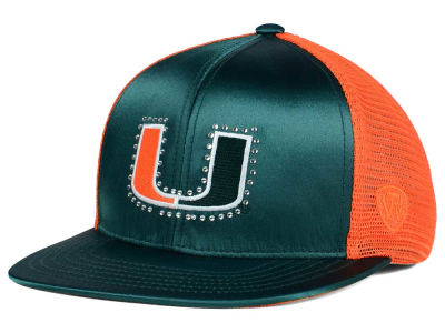 Miami Hurricanes Top of the World NCAA Women's Big Satin Snapback Cap