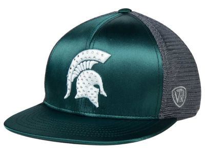 Michigan State Spartans Top of the World NCAA Women's Big Satin Snapback Cap