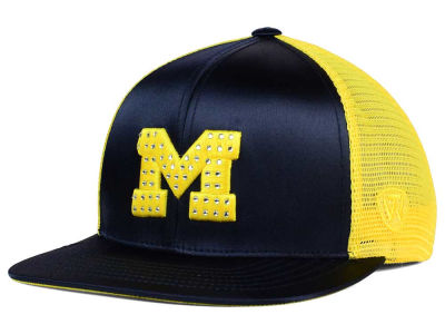 Michigan Wolverines Top of the World NCAA Women's Big Satin Snapback Cap