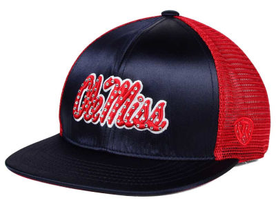 Ole Miss Rebels Top of the World NCAA Women's Big Satin Snapback Cap