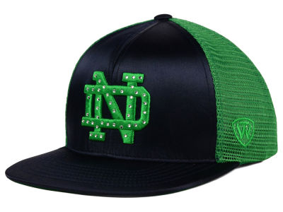 Notre Dame Fighting Irish Top of the World NCAA Women's Big Satin Snapback Cap