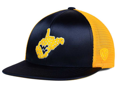 West Virginia Mountaineers Top of the World NCAA Women's Big Satin Snapback Cap