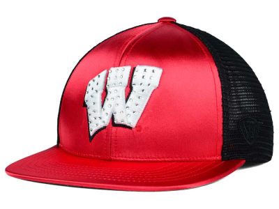Wisconsin Badgers Top of the World NCAA Women's Big Satin Snapback Cap