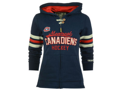Montreal Canadiens Reebok NHL Women's Embroidered Full Zip Hoodie
