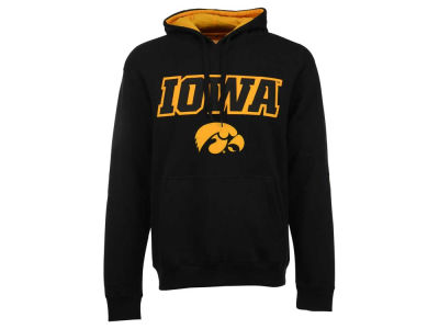 Iowa Hawkeyes NCAA Men's Stacked Logo Applique Hoodie Sweatshirt