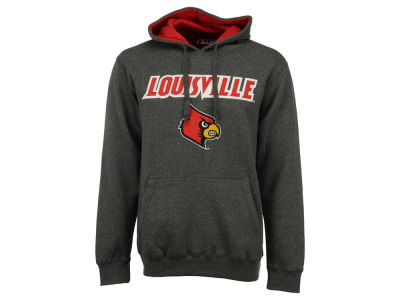 Louisville Cardinals NCAA Men's Stacked Logo Applique Hoodie Sweatshirt