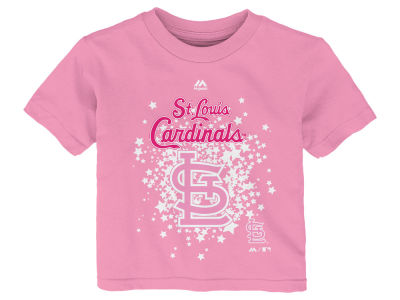 St. Louis Cardinals Majestic MLB Toddler Girls Pouring Stars T-Shirt