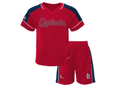 St. Louis Cardinals Majestic MLB Toddler Baseball Classic Short Set