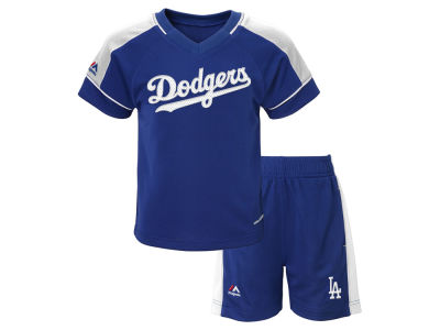 Los Angeles Dodgers Majestic MLB Toddler Baseball Classic Short Set