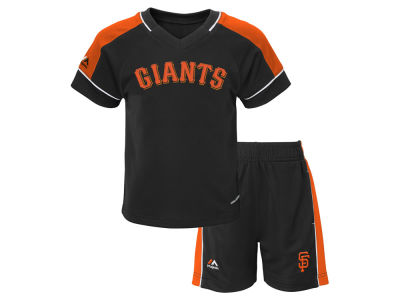 San Francisco Giants Majestic MLB Toddler Baseball Classic Short Set