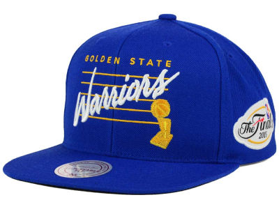 Golden State Warriors Mitchell and Ness NBA 2015 Finals Patch Snapback Cap