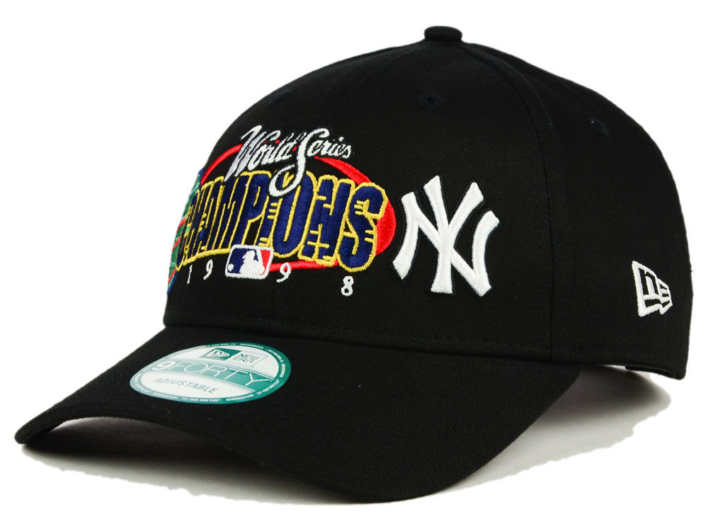 3966db64fa1 New York Yankees New Era MLB 20th Anniversary World Series Champ 9FORTY Cap