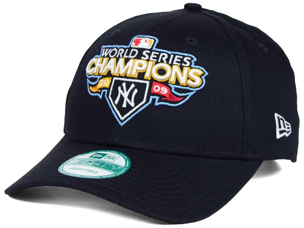 66440ee4a8f New York Yankees 2009 New Era MLB 20th Anniversary World Series Champ  9FORTY Cap