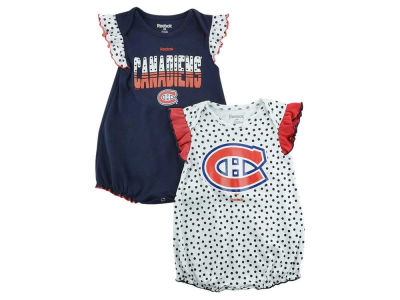 Montreal Canadiens NHL CN Infant Polka Fan Creeper Set