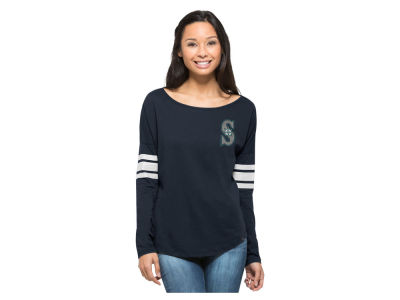 Seattle Mariners MLB Women's Courtside Long Sleeve T-Shirt