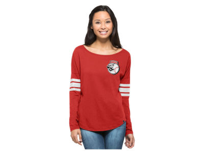 Cincinnati Reds MLB Women's Courtside Long Sleeve T-Shirt