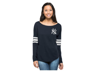 New York Yankees MLB Women's Courtside Long Sleeve T-Shirt
