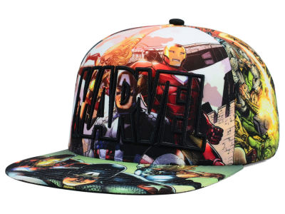 Marvel All Over Sublimation Snapback Hat