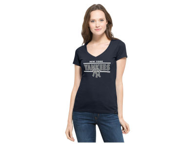 New York Yankees '47 MLB Women's Speckle Flanker T-Shirt