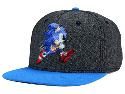 Sonic Pixelated Snapback Hat