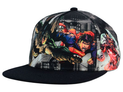 DC Comics Youth Skyline Flying Snapback Hat