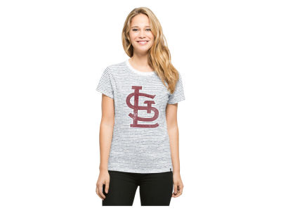 St. Louis Cardinals MLB Women's Sparkle Stripe T-Shirt