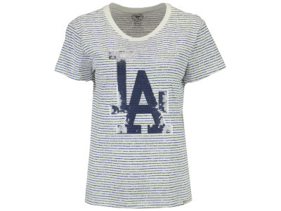 Los Angeles Dodgers '47 MLB Women's Sparkle Stripe T-Shirt