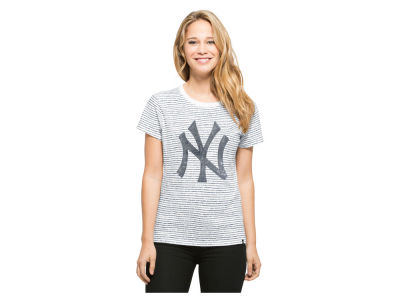 New York Yankees '47 MLB Women's Sparkle Stripe T-Shirt