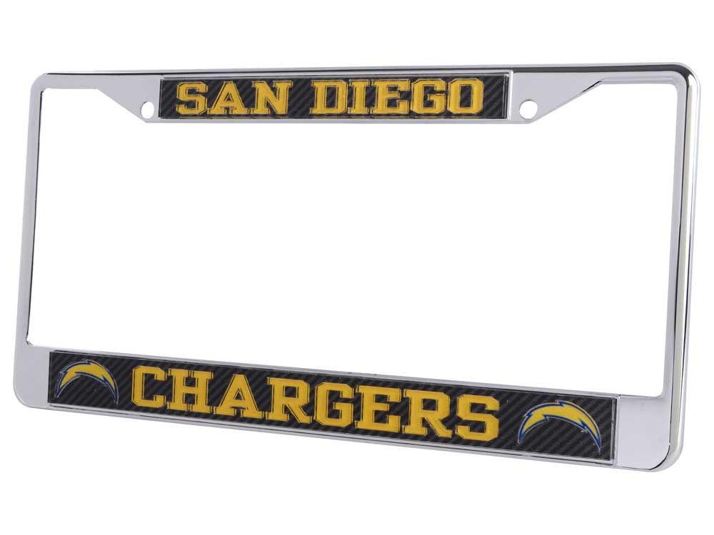 San Diego Chargers Carbon Laser Frame   lids.com