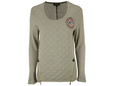 Ohio State Buckeyes NCAA Women's Quilted Zipper Long Sleeve Top