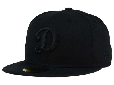 Oklahoma City Dodgers New Era MiLB Black on Black 59FIFTY Cap