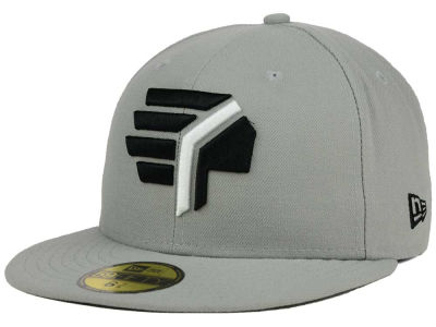 Syracuse Chiefs New Era MiLB Gray Black White 59FIFTY Cap