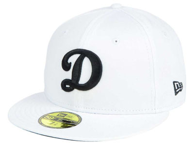 Oklahoma City Dodgers New Era MiLB White and Black 59FIFTY Cap