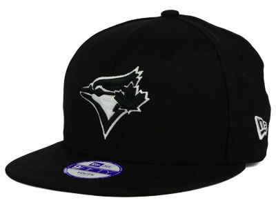Toronto Blue Jays New Era MLB Youth Black White 9FIFTY Snapback Cap
