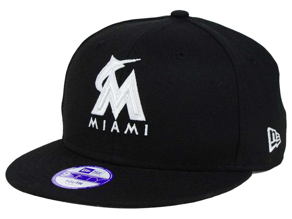pretty nice b27c8 01cde ... official miami marlins new era mlb youth b dub 9fifty snapback cap  1d9eb e6ffb