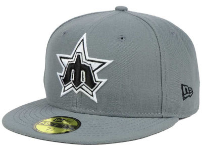 Seattle Mariners New Era MLB Gray BW 59FIFTY Cap