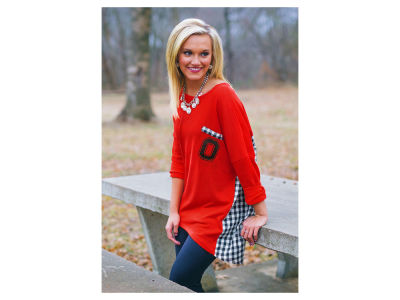 Ohio State Buckeyes NCAA Women's Gingham Piko Shirt