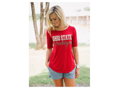 Ohio State Buckeyes NCAA Women's Colored Half Sleeve T-Shirt