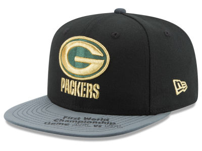 Green Bay Packers New Era NFL Super Bowl Logo Edge 9FIFTY Snapback Cap