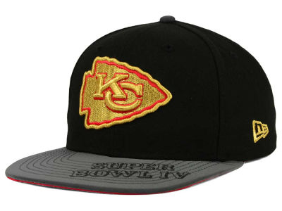 Kansas City Chiefs New Era NFL Super Bowl Logo Edge 9FIFTY Snapback Cap