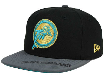 Miami Dolphins New Era NFL Super Bowl Logo Edge 9FIFTY Snapback Cap