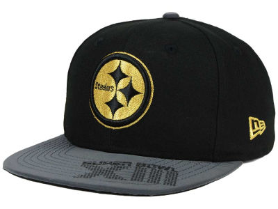 Pittsburgh Steelers New Era NFL Super Bowl Logo Edge 9FIFTY Snapback Cap