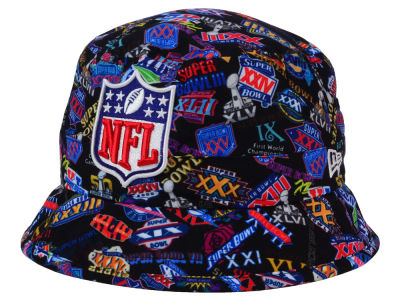 Super Bowl 50 New Era Super Bowl 50 Allover Logo Bucket Hat
