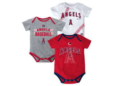 Los Angeles Angels MLB Newborn Three Strikes Bodysuit Set
