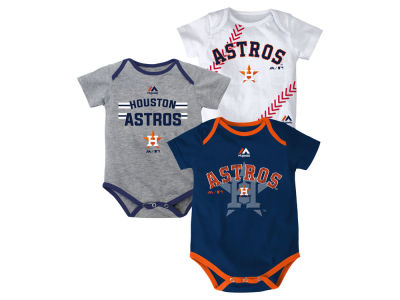 Houston Astros MLB Newborn Three Strikes Bodysuit Set