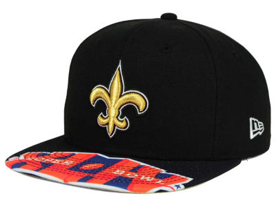 New Orleans Saints New Era NFL Super Bowl 50 Logo Jumbo Vize 9FIFTY Snapback Cap