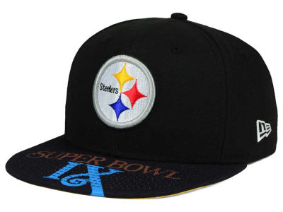Pittsburgh Steelers New Era NFL Super Bowl 50 Logo Jumbo Vize 9FIFTY Snapback Cap