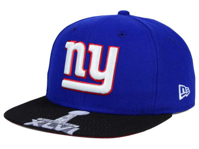 New York Giants New Era NFL Super Bowl 50 Logo Jumbo Vize 9FIFTY Snapback Cap